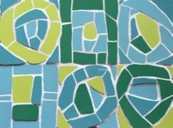 Mosaic blue/green chunky- inspired by Kandinsky
