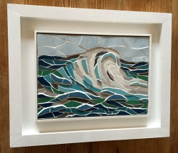 A framed crest of the wave mosaic
