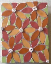 Mosaic flowers heads