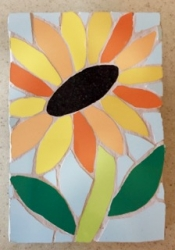 Small mosaic sunflower
