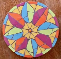 Mosaic peace mandala