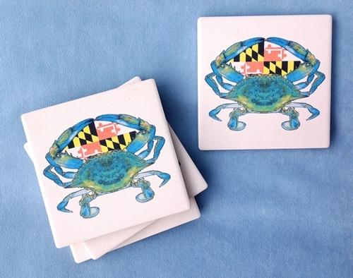Maryland Flag Crab Coasters