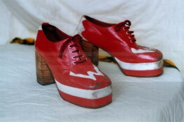 Bay City Roller Woody's Original 1970's 'W' Shoes..very rare item !!