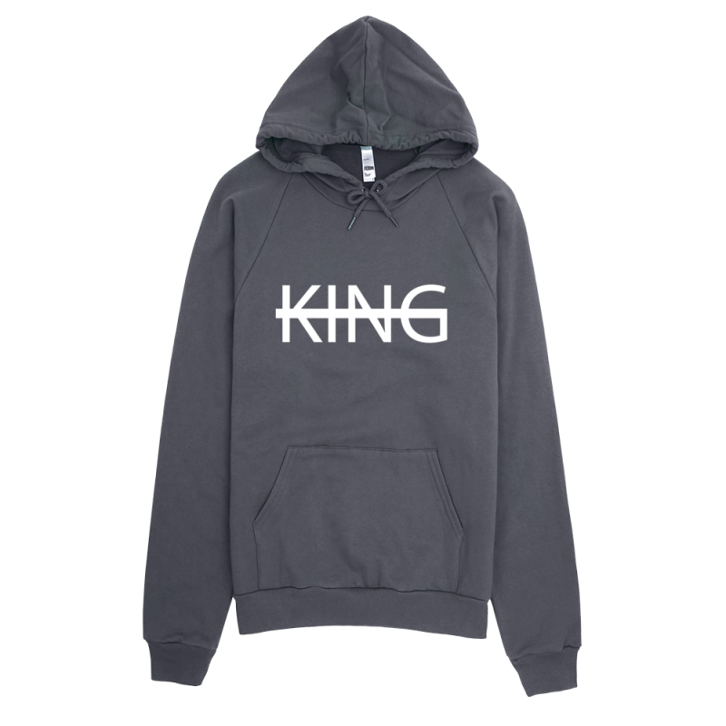 KIDS ASPHALT GREY KING Fleece Pullover Hoodie