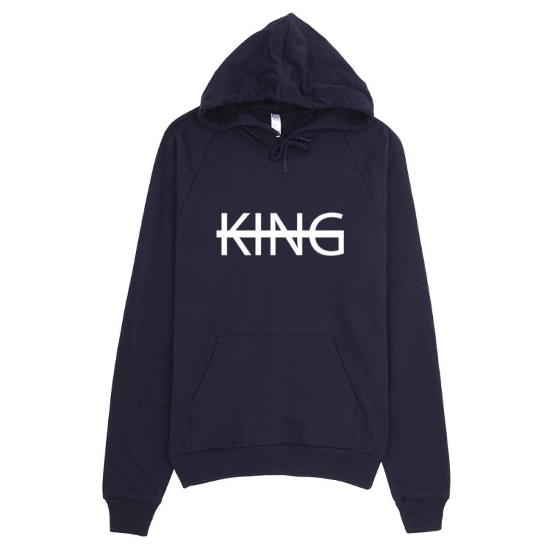 KIDS NAVY KING Fleece Pullover Hoodie