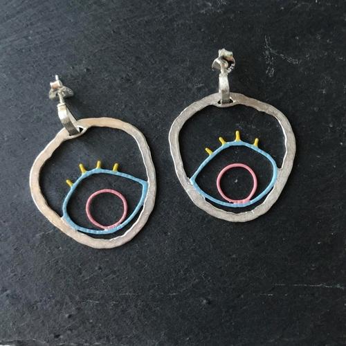 Earrings Hoop Eyes