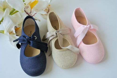 Angel Linen Shoes with Bow
