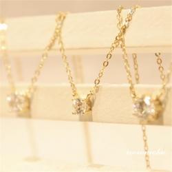 一粒ダイヤモンドネックレス 人気 k14ゴールド ネックレス ネックレス 女性 人気 4/6本爪
