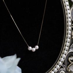 手作り K18ゴールド パールネックレス 人気 彼女 ネックレス プレゼント おすすめ 結婚式 AKOYAパール