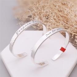 ペアブレスレット 刻印無料 シルバー99% 純銀 人気 彼女彼氏プレゼントペアブレスレット おすすめ メッセージ