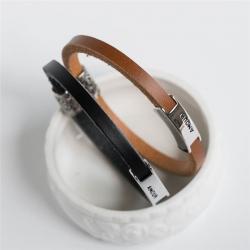 ペアブレスレット レザー ブレスレット メンズ レディース シンプル レザーブレスレット ペア 店舗 革 手作り