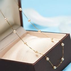 可愛いAKOYAパールネックレス k18ゴールド ネックレス k18 レディース 人気 大人の魅力 華奢