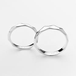ペアリング シルバー 結婚指輪 ペア リング マリッジリング プレゼント カップル 文字刻印可能 6-25号 ひし形カット