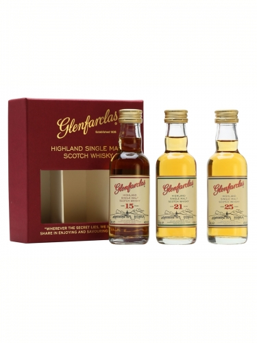 Glenfarclas (15, 21 & 25 Years Old) 3 x 50ml Miniature Gift Set
