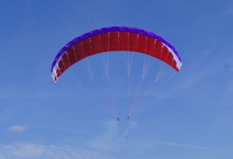 """Para-RC Paraglider """"RC-FLAIR 4.5"""" - Violet/White/Red"""
