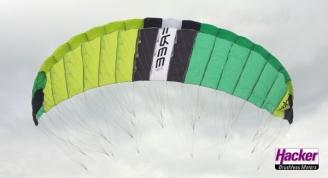 Para-RC glider RC-FREE V2 in green/black/white