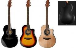 Guitarra Semi-Acustica Harley Benton HBO-600 BK/SB/NT - aco - roundback - preto,sunburst ou natural
