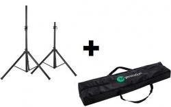 Pack de 2 Tripes de Coluna de encaixe standard (35mm) + 1 Saco - Fun Generation Speaker Stand pair