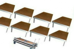 Pack de Palco Stairville Stage Table Bundle Indoor - 8 Estruturas (2x1m) + 1 Carro