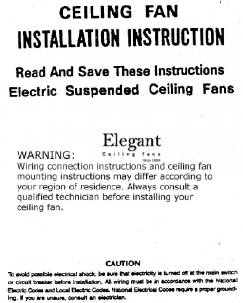 Installation Instructions - General