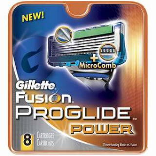 Gillette Fusion Proglide Power Refill Cartridges 1 Pack 8 Cartridges $32 Free Shipping Worldwide