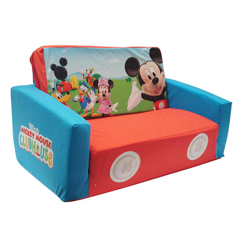 Delightful Mickey Mouse Clubhouse Flip Open Sofa With Slumber