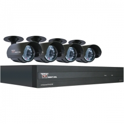 4-Channel STA 500GB DVR with 4 Night Vision Cameras and Smartphone Viewing