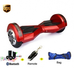 8-inch Two Wheel Smart Electric Scooter w/Bluetooth + Speaker + Remote + Bag