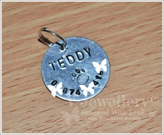 Personalised Hand Stamped Pet ID Tag