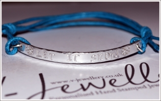 Christmas Quote Hand Stamped Textured Hammered Bracelet