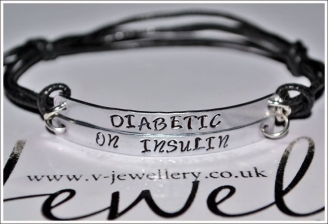 Diabetic Double Multi-Plate Bracelet