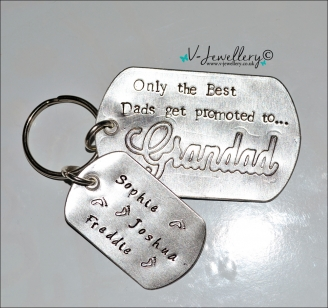 "Personalised Etched ""Only the Best Mums/Dads get promoted to..."" Extra Large Dog Tags Keyring"
