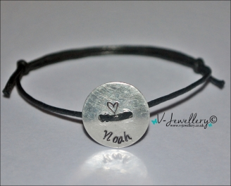 Personalised Button Bracelet