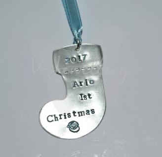 "Personalised ""Babys 1st Christmas"" Decoration"