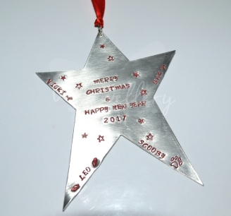Personalised XL Star Hanging Keepsake