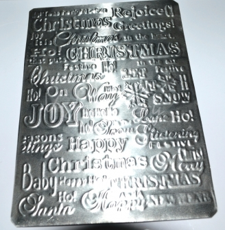 Embossed Christmas Plaque