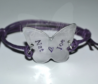 Personalised Butterfly Bracelet *2 Styles Available*