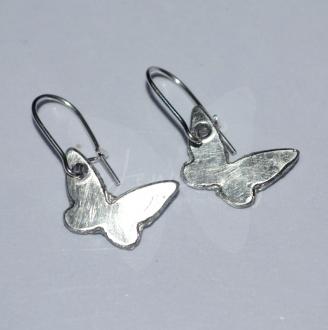 Dainty Butterfly Dangle Earrings