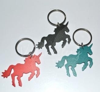 Flexi Plastic Coloured Unicorn Keyring *Non Personalised*