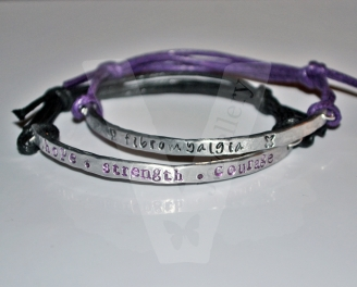 Personalised Hand Stamped Stacking Adjustable Bracelets *Higher Quality*