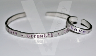 Personalised Hand Stamped Stacking Ring & Bangle Gift Set *Higher Quality*