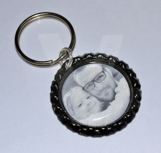 Personal Large Photo Keyring