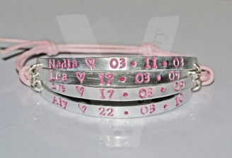 Personalised 4 Multi-Plate Hand Stamped Bracelet