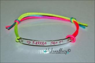 Personalised Multi-Plate Bracelet *Rainbow Strap*