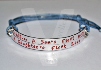 """Daddy... A Sons First Hero, A Daughters First Love"" Double Plate Bracelet"