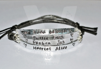 Grandparent belongs to... Multi-Plate Bracelet