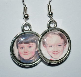 Personal Photo Charm Earrings