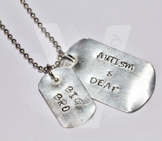 Personalised Dog Tag Pendant *Stainless Steel Chain*