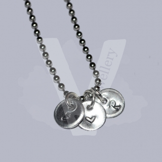 "Personalised Initial Charm Pendant 20"" *Stainless Steel Ball Chain*"