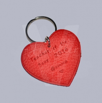 Personalised Genuine Leather Keyring *Various Shapes Available*